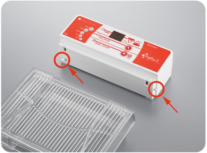 パワーサプライと泳動槽との接続確認スイッチを設置。