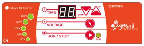 視認しやすい電圧表示。135V時