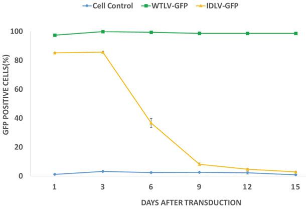 GFP発現細胞のパーセンテージを比較