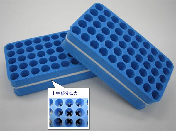 積水ポリマテック社 発泡樹脂性試験管立て